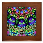 Abstract Decorative Pattern Framed Tile