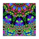 Abstract Decorative Pattern Tile Coaster