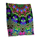 Abstract Decorative Pattern Burlap Throw Pillow
