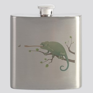 Chameleon catching insect Flask