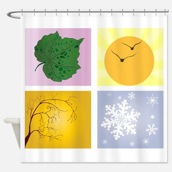 The Four Seasons Shower Curtain