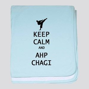 keep calm and ahp chagi baby blanket