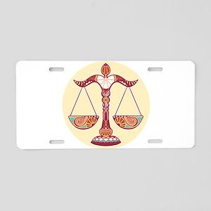 Libra zodiac sign Aluminum License Plate