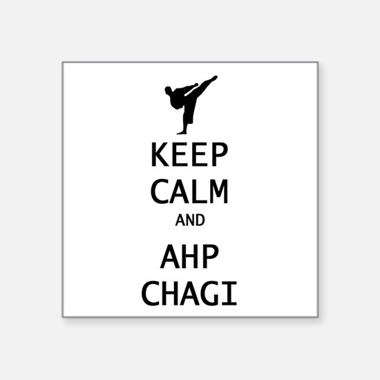 keep calm and ahp chagi Sticker