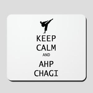 keep calm and ahp chagi Mousepad