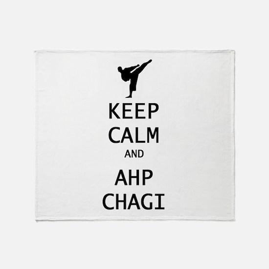 keep calm and ahp chagi Throw Blanket