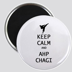 keep calm and ahp chagi Magnets