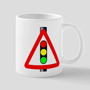 Men at Work Traffic Sign Mugs