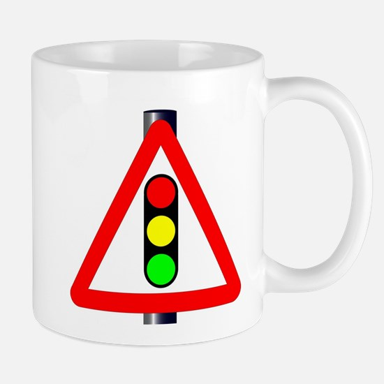 Men at Work Traffic Sign Mugs