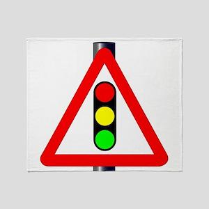 Men at Work Traffic Sign Throw Blanket