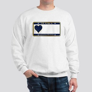 Alaska State License Plate Sweatshirt