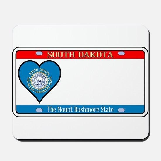 South Dakota License Plate Mousepad