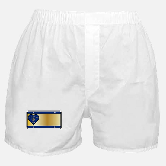 Oregon State License Plate Boxer Shorts