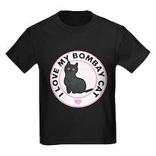 Bombay Cat Lover Kids Dark T-Shirt