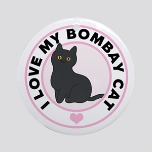Bombay Cat Lover Round Ornament