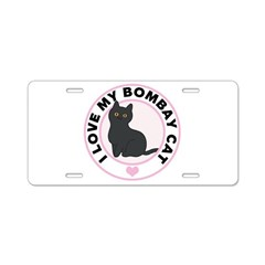 Bombay Cat Lover Aluminum License Plate