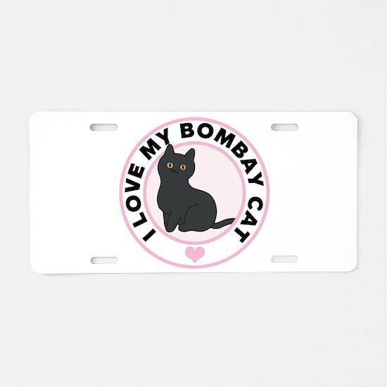 Bombay Cat Lover Aluminum License Plate