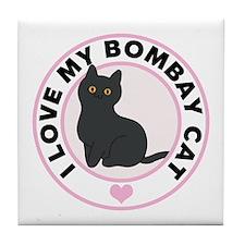 Bombay Cat Lover Tile Coaster