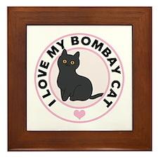Bombay Cat Lover Framed Tile