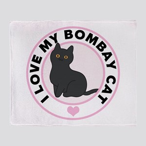 Bombay Cat Lover Throw Blanket