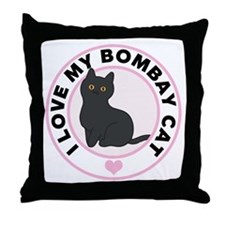 Bombay Cat Lover Throw Pillow