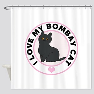 Bombay Cat Lover Shower Curtain