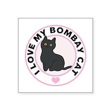 Bombay Cat Lover Square Sticker 3