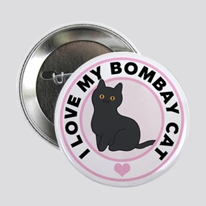 """Bombay Cat Lover 2.25"""" Button"""