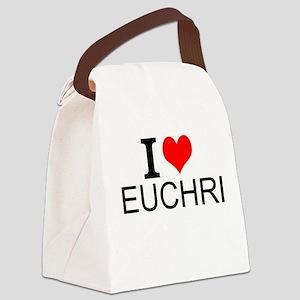 I Love Euchre Canvas Lunch Bag