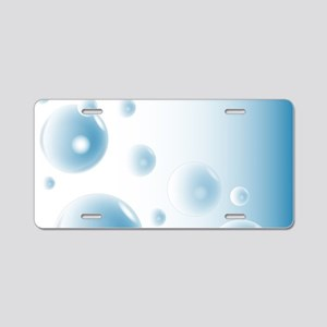 Water Bubbles Aluminum License Plate