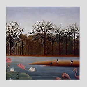 The Flamingos Tile Coaster