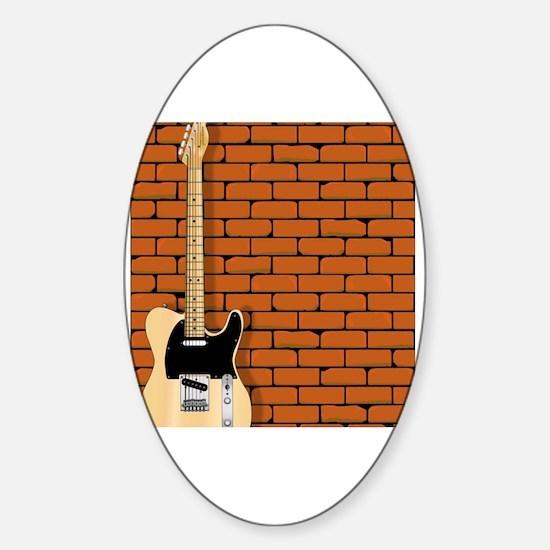 Cute Fender guitar Sticker (Oval)