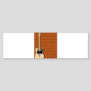 Guitar Wall Bumper Sticker