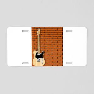 Guitar Wall Aluminum License Plate