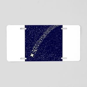 Falling Star Aluminum License Plate