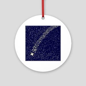 Falling Star Round Ornament