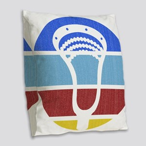 Lacrosse TP03 Burlap Throw Pillow