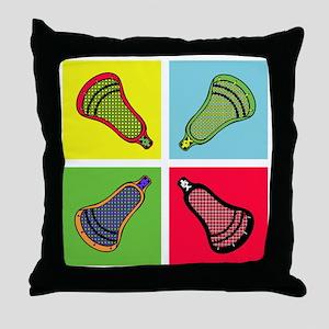 Lacrosse Neon4 Throw Pillow