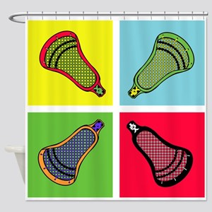 Lacrosse Neon4 Shower Curtain