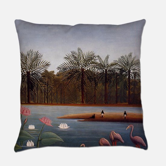The Flamingos Everyday Pillow