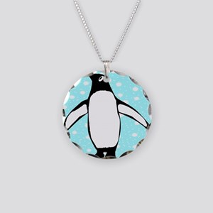 Penguin Necklace Circle Charm
