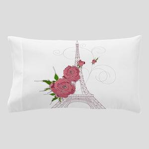Vintage Eiffel tower design background Pillow Case