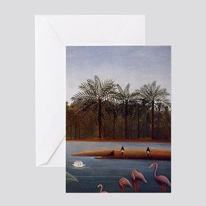 The Flamingos Greeting Cards