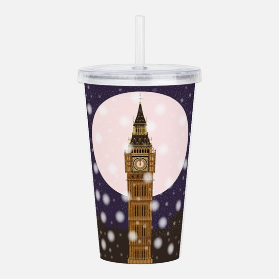 London Christmas Eve Acrylic Double-wall Tumbler