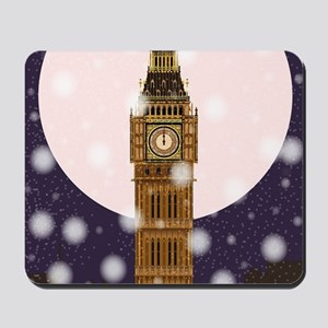 London Christmas Eve Mousepad