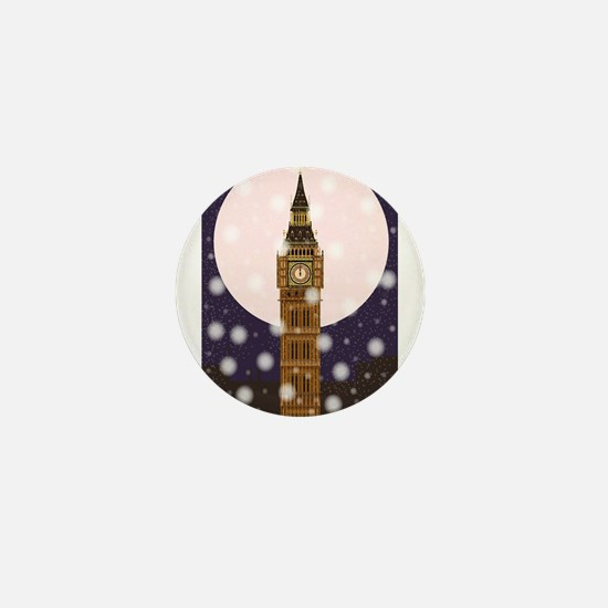 London Christmas Eve Mini Button