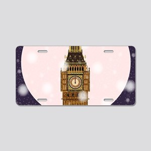 London Christmas Eve Aluminum License Plate