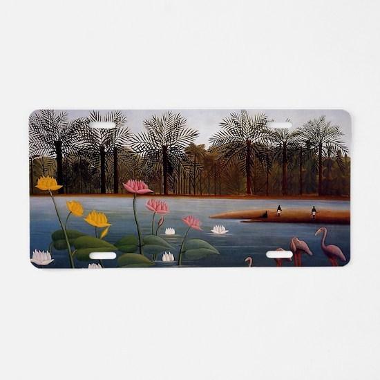 The Flamingos Aluminum License Plate