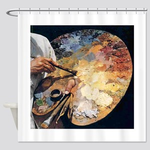 Art Palette Shower Curtain