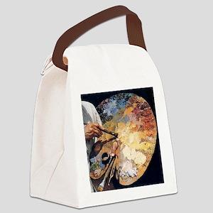 Art Palette Canvas Lunch Bag
